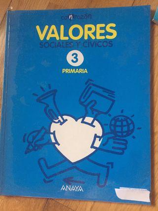 Valores 3 primaria