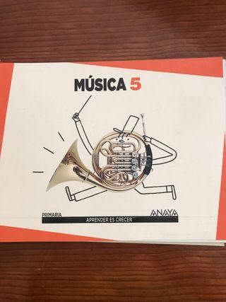 Libros Textos música Quinto Primaria