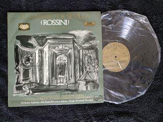 "Disco de vinilo ""El barbero de Sevilla (Rossini)"""