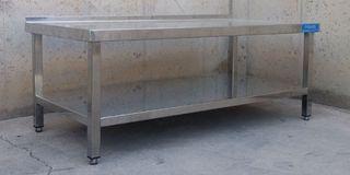 Taula d'inox 142x75cm