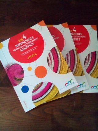 Llibre Matemàtiques 4 ESO ANAYA