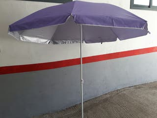 parasol de playa inclinable lila 1.60 mts. 5o Upf