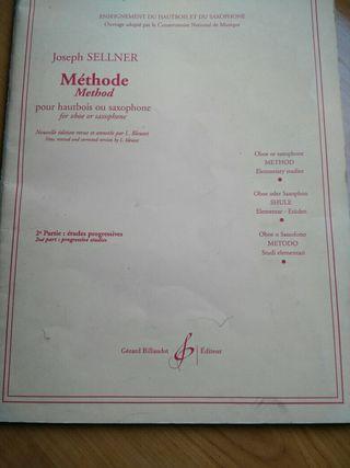 Libro metodo oboe y saxofón. 2° profesional