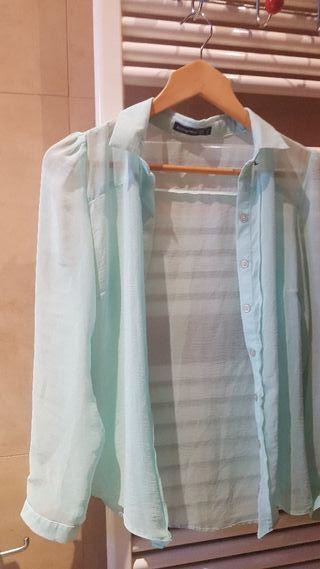 blusa verde pastel 40