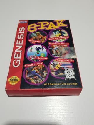6 pack genesis sega