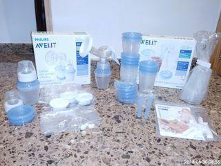 Lote: extractor manual y vasos almacenamiento