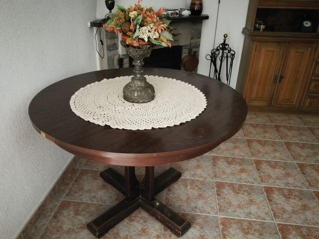 Mesa redonda comedor rustica extendible de segunda mano por ...