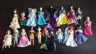 Muñecas Disney Porcelana Lote 19 Figuras