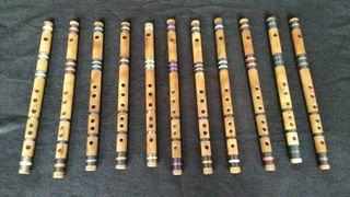 Flauta travesera de bambú