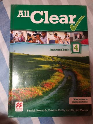 Libro inglés All Clear Student's book 4