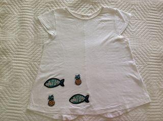 Camiseta Blanca Con Parches De Lentejuelas