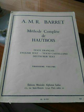 Lote libros de oboe.