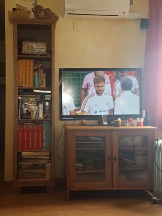 mueble televisor con estanteria