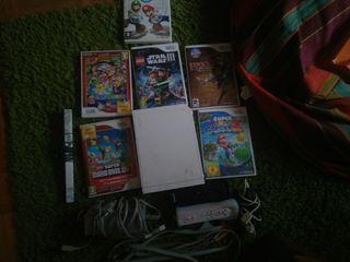 Consola wii 5 juegos