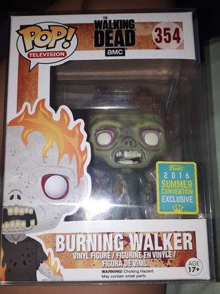 funko pop burning walker (the walking dead)