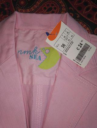 Chaqueta vaquera rosa palo