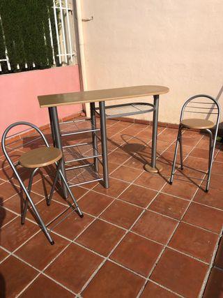 Mesa cocina frutero 2 sillas