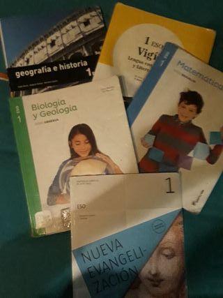 vendo libros de 1° ESO del Instituto Mondejar