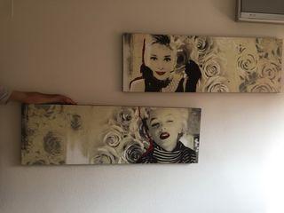 Cuadros Marilyn Monroe Audrey Hepburn