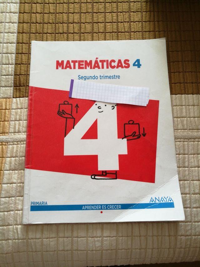Cuarto de primaria. Anaya. Matemáticas de segunda mano por 8 € en ...