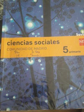 libro Ciencias Sociales 5º primaria SM