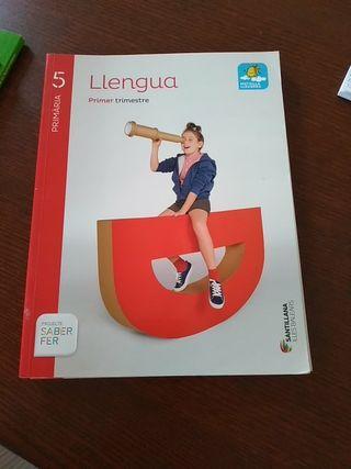 libros escolares 5° primaria Llengua
