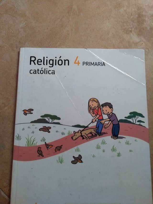 Libro de religión de 4º de primaria