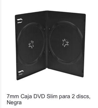 60 Estuches dvd slim doble