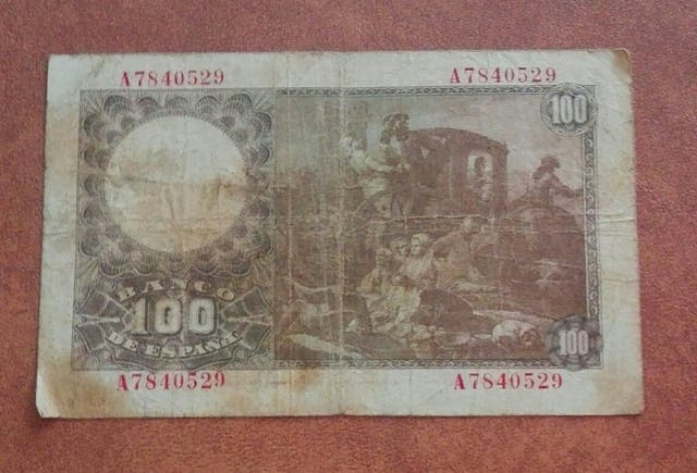 billete antiguo de España