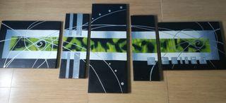 Cuadro decoración 5 piezas