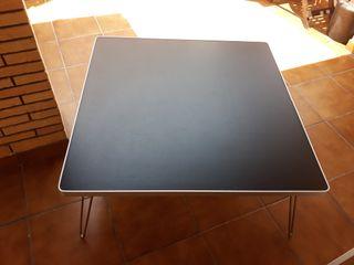 mesa madera y aluminio 90×90