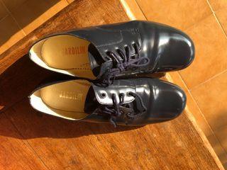Zapato niño comunion azul