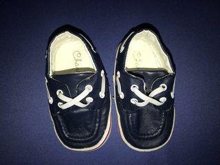 Zapatos Náuticos en azul 17 bebe
