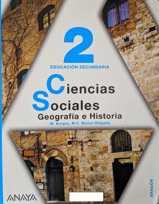 Libro Geografía e Historia 2° ESO (Usado) - 3 Uds