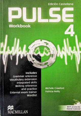 Libro y cuaderno Inglés PULSE 4 4° ESO (Usado)