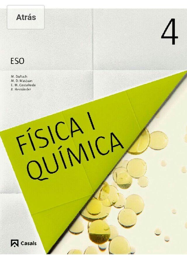 Libro fisica 4 eso de segunda mano por 20 € en Montblanc - wallapop