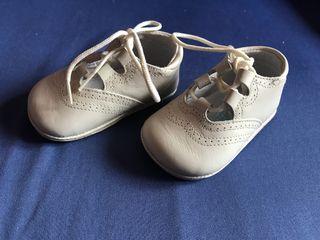 Zapatos de bebe unisex beige