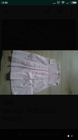Vestido NUEVO 12 MESES
