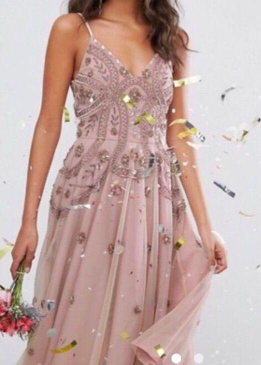 Vestido asos rosa fiesta de segunda mano por 80 € en Madrid - wallapop