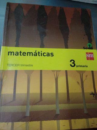 Libro texto 3 primaria matemáticas SM Savia