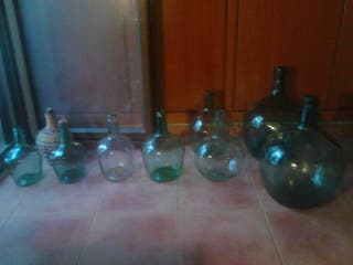Botellas, damajuanas, garrafas vidrio