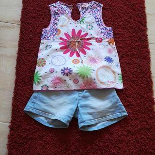 Conjunto short y blusa