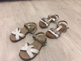 Lote 2 pares sandalias niña 28 made in Spain