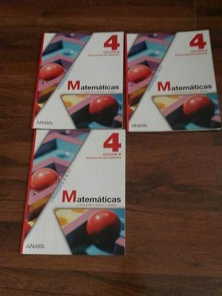 libro de matemáticas de 4 de la eso
