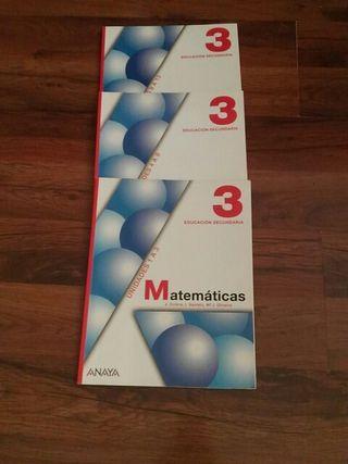 libros de matemáticas de 3 de la eso