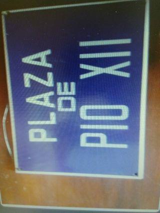 placa esmaltada calle de malaga