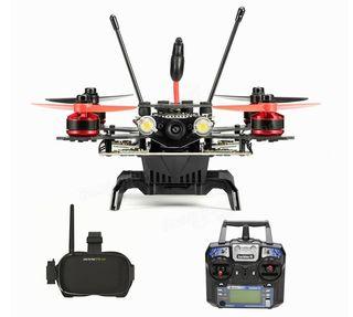 Drone de carreras con gafas y gps