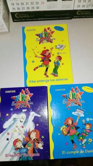 libros kika super bruja y dani