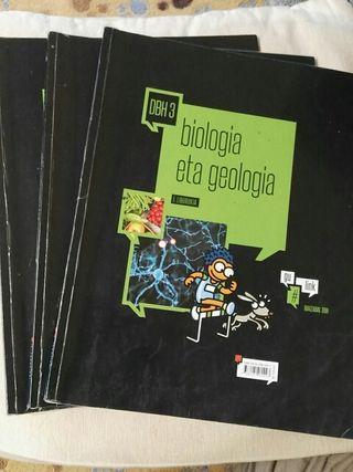 Libros de texto 3° eso de Biologia y Geologia
