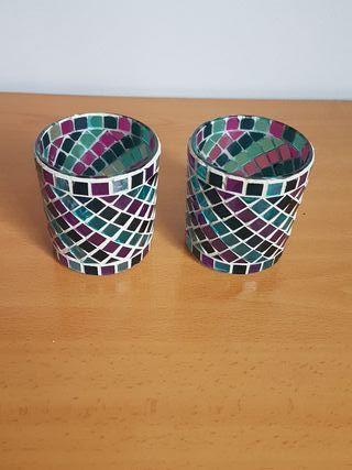 2 vasos decoración